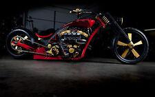"24"" x 16"" Poster Chopper Hot Rod Super Bike Custom Motorcycle"