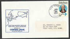 DATED 1-28-1981 COVER FAM 14 1ST FLT PAN AM FROM NY TO BEIJING CHINA SEE INFO