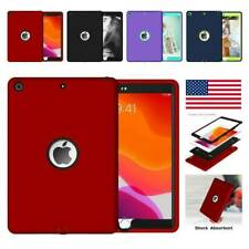"""For iPad 10.2"""" 2019/2020 7th 8th Shockproof Silicone PC Heavy Duty Case Cover"""
