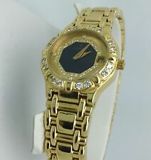 Ladies Solid 18K Yellow Gold Diamond Concord Saratoga Despose Date Watch