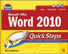 Microsoft Office Word 2010 QuickSteps by Matthews, Marty Paperback Book The