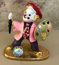 "Spoontiques HP Pewter Clown Swarvoski  Crystal Ball  PAINTER ARTIST 2"""