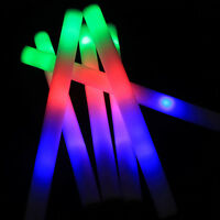 1/5/12pcs Colorful LED Flashing Foam Light-Up SticksRave Cheer Wand Glow Baton