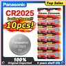 Panasonic Cell Coin Battery 10PCS/LOT cr 2025 3V Button For LED Watches