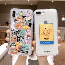 Para iPhone XS Max 7 8 Plus X Japón Dibujos Animados Pikachu Pokemon a Prueba de Choques Funda De Teléfono