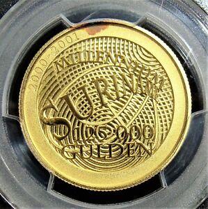 Suriname: 2000 Gold 125,000 Gulden Millennium KM-57 PCGS Proof-67 DCAM.