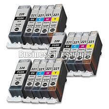 100+ PK PGI-220 CLI-221 Canon PGI-220 BK CLI221 C/M/Y/BK Ink Cartridge NEW CHIP