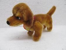 MES-39047 Alter Steiff Hund Hexie H:ca.9cm mit Knopf und Schild,