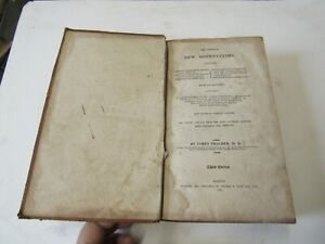1817 Antique Leather Medical Book, American New Dispensatory by James Thacher