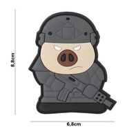 Airsoft morale patch tactical combat pig 3D PVC hook and loop