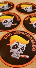 "TRUMP ""The Deplorables"" MAGNET BUMPER STICKER Biker Skull President Fridge"
