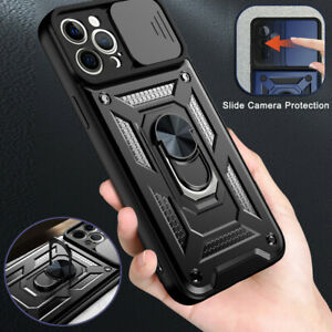 Case For iPhone 13 12 Pro Max 11 XS XR X 8 7 + Camera Lens Slide Protector Cover