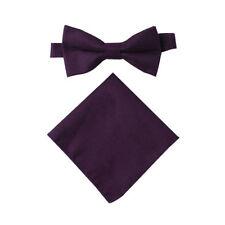 Cotton Dark Purple Bow Tie Wedding Bowties for Men Groomsmen Bow Ties for Ball