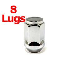 """8x Excalibur 1904 Lug Nuts 1/2"""" Bulge Acorn 3/4"""" Hex Chrome Closed End"""