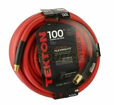 "Tekton 1/2"" x 100' Rubber Air Hose 250 Psi Flexible Quality Brass Ends 46368 Usa"