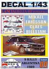 DECAL 1/43 LANCIA DELTA INTEGRALE M.ERICSSON R.ARGENTINA 1989 WINNER (01)