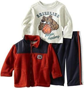 Kids Headquarters Infant Boys Fleece Jacket 3pc Pant Set Size 12M 18M 24M $49.50