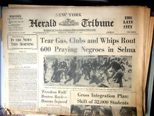 Herald Tribune Newspaper March 8 1965 600 Praying Blacks Clubbed