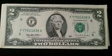 ✯Lightly Circulated 1995 RARE Two Dollar Bill $2 Note Non Consecutive Lot Fancy✯