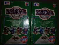 1990 Upper Deck Wax FOIL Box Factory Sealed HIGH# NOLAN Sosa Griffey 2 boxes new