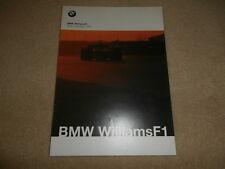 BMW Williams F1 Team Collection 2000 Brochure Rare - Grand Prix