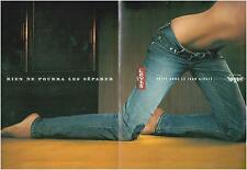 ▬► PUBLICITE ADVERTISING AD PUB LEVI'S 4 pages dépliantes 2005