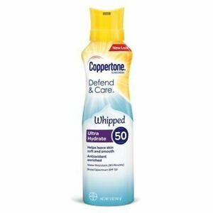 Coppertone Defend & Care Whipped Ultra Hydrate SPF 50 Sunscreen - 5oz EXP 10/20