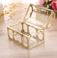 Plastic Casket Transparent Box Crystal Gem candy Box Storage Organizer Chest Box