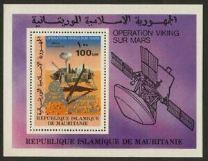 Mauritania C195 MNH Space, Viking lander,  silver o/p