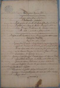 ATTO NOTARILE manoscritto 1854 Bitetto Bari Puglia Regno delle due Sicilie