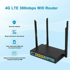 2.4GHz 300Mbps Wireless Wifi Router Up to 30 Users 4 LAN Ports Support 3G 4G xa*