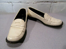 111ca9a4293 Authentic Prada Womens Cream Color Leather Loafers Flats Size 35.5