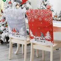4pcs Christmas Dining Chair Slipcovers Back Cover Gnome Swedish Tomte Decoration