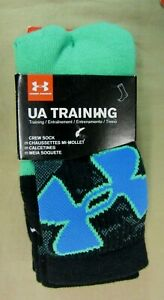 Under Armour UA TRAINING Youth Crew Socks 3 Pack  13.5K -4Y New