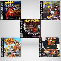 Crash Bandicoot 2, 3, Bash, Warped, CTR, Cortex (PlayStation 1) PS1 Disc Only