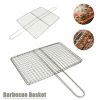 1X Stylish Stainless Steel Mesh Folder Grill Accessories Barbecue Tools Durable
