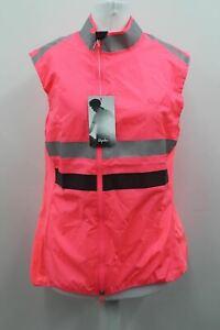 RAPHA Ladies High Visibility Lightweight Zip-Up Brevet Cycling Gilet XL BNWT