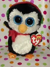 """6"""" Ty Beanie Boo North the Christmas Penguin *Retired*"""