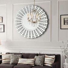 Deko Spiegel Wandspiegel Bevelled Glas Hängespiegel 80cm RUND Wanddeko Ornamente