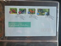 2004 AUSTRALIA RAINFORSTS BUTTERFLIES SET 4 STAMPS FDC FIRST DAY COVER