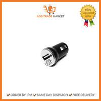 NEW USB Phone Charger Black For Car Van Lighter Cigarette Socket Black
