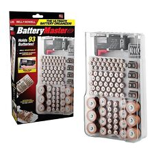 Bell + Howell Battery Master Organizer with Free Battery Tester As Seen on TV!