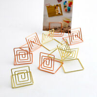 10 Pack Table Number Card Holders Photo Holder Stands Place Paper Menu Clip
