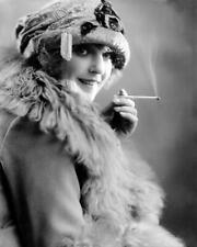 Vintage Photo ... Flapper Era , Woman Smoking ... Photo Print 8x10