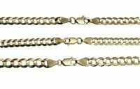 "Solid 10k  Yellow Gold 4MM-6MM Cuban Link Chain Necklace 16"" -30"""