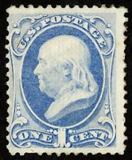 """Us Sc# 134 *Unused H* { """"Grill 1c Franklin } """"Scarce From 1870 Series Cv$ 800.00"""