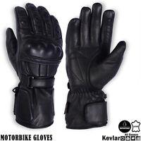 Motorbike Leather Gloves Waterproof Knuckle Protected Motorcycle All Season Wear