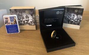 """2014 FINE SILVER PIEDFORT £2 COIN. WW1 """"Outbreak"""" ROYAL MINT BOXS, INSERTS & COA"""
