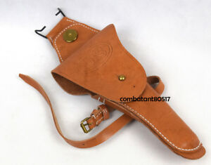 Military WW2 US Colt Type M1911 Cavalry W Leg Strap Leather Pistol Holster