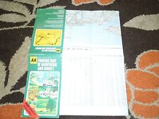 AA Touring Map of Hampshire and Dorset. 3 miles to 1 inch series. Retro/Vintage